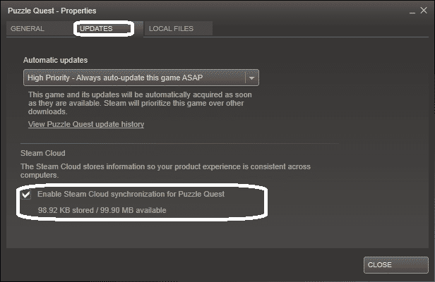 enable steam cloud sync