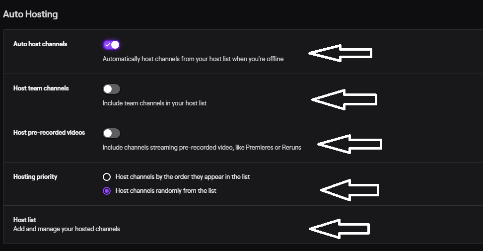 how to auto host on twitch