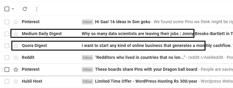 Archived emails in gmail desktop