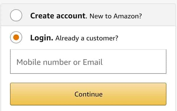 Login to amazon