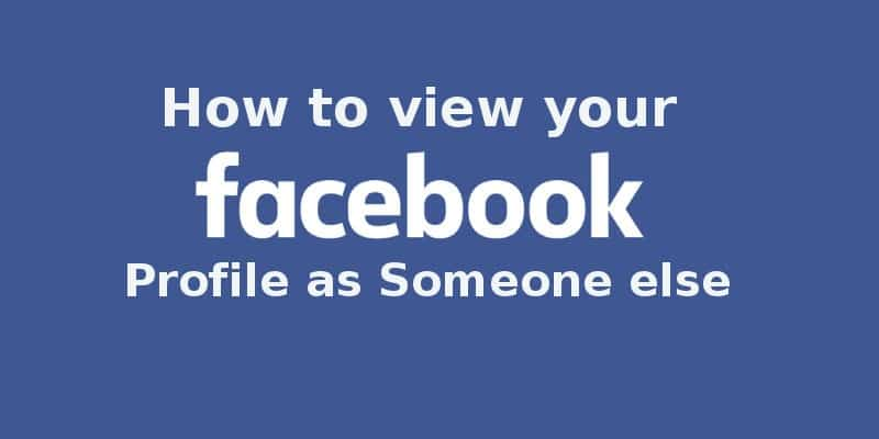 View your facebook profile as public