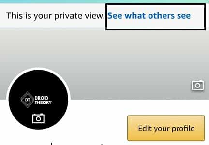 amazon profile public view