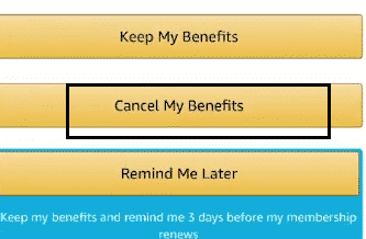 cacncel amazon prime benefits