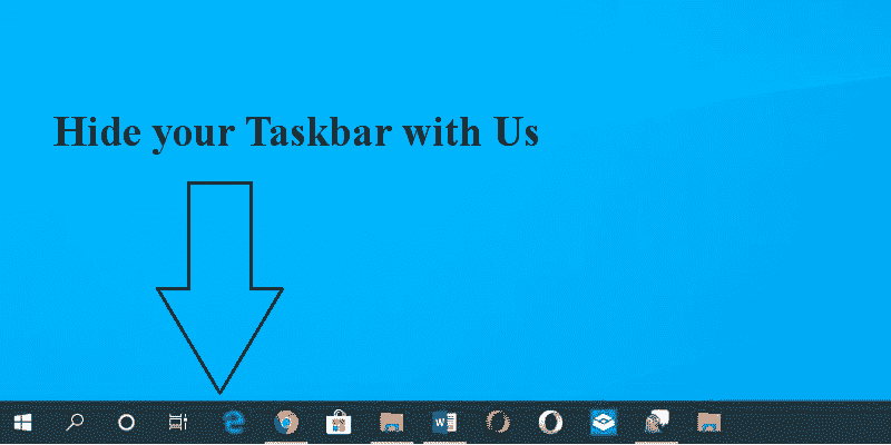 how to hide taskbar