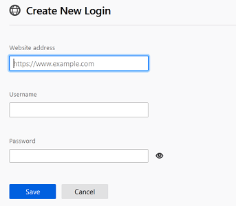 save new password manually on firefox