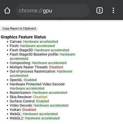 chrome hardware acceleration on android