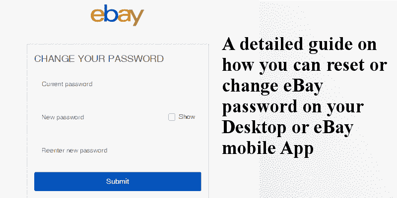 how to change ebay password