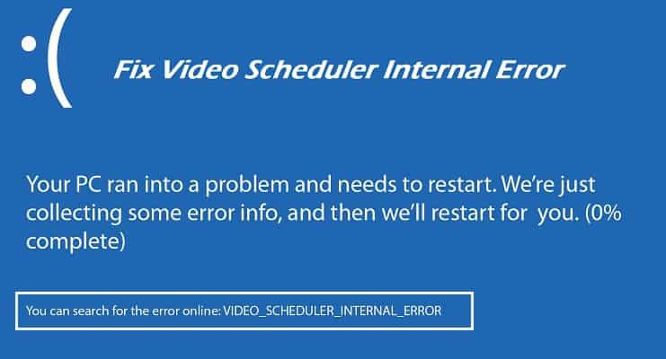 Video Scheduler Internal Error