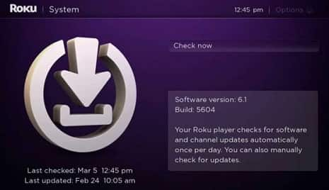 update roku tv