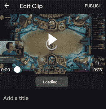 edit clip on twitch mobile app