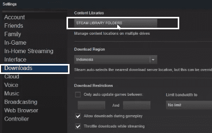 change steam library location