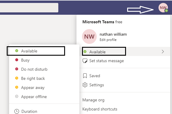 How to Always Appear Available On Microsoft Team